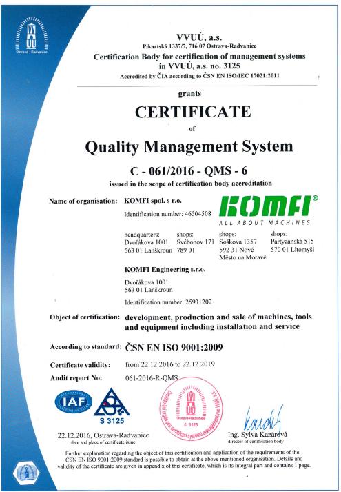 Certificate 9001